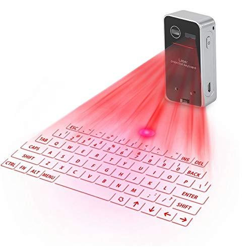 ASHATA Teclado Virtual portátil Bluetooth, Mini Wireless Bluetooth...