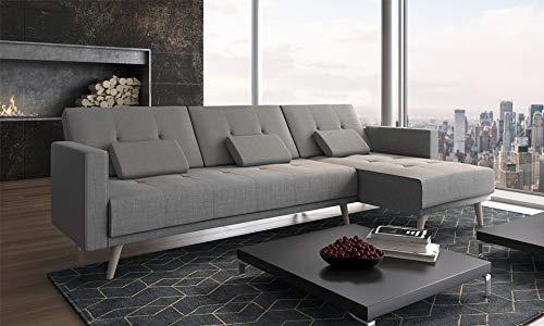 Comfort Home-Innovation - Divano convertibile ad angolo Verona, 267 cm, convertibile in letto,...