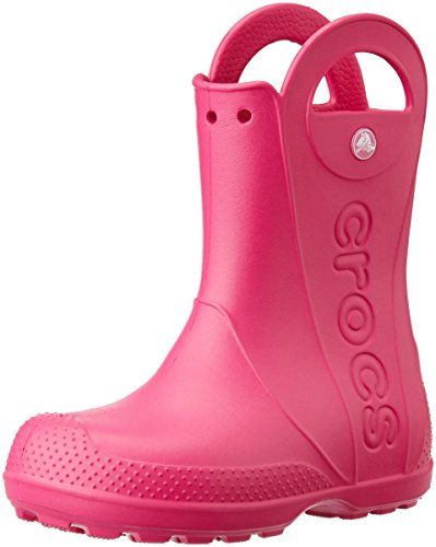 Crocs Kids' Handle It Rain Boots, Easy On for Toddlers, Boys, Girls, Lightweight and Waterproof,Candy Pink, 7 M US Toddler