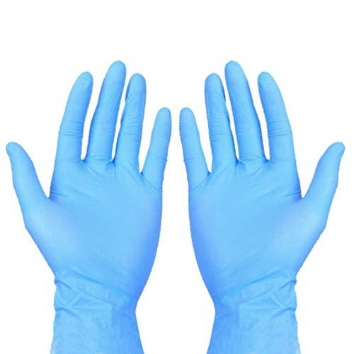 Artibetter 100 guanti usa e getta per esami medici a prova di olio, impermeabili, per cucinare e...
