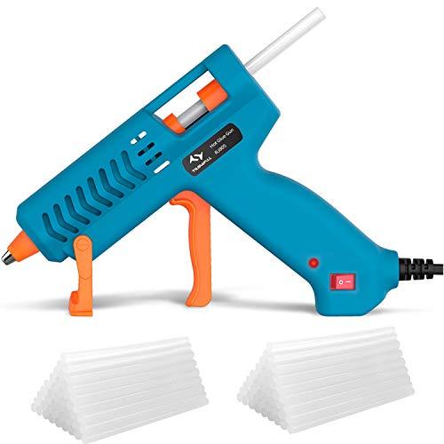 50W Hot Glue Gun Tilswall Mini Melt Gun Electric Heats Up Quickly with 75pcs 130mm Glue Sticks for Art, Craft, Sealing, DIY, Home Repairs, Card, Glass