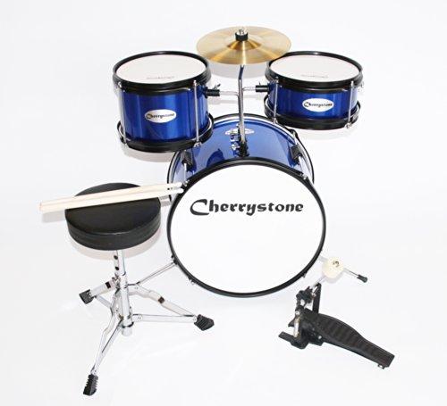 Cherrystone 0754235504511 Kinderschlagzeug Komplettset blau/metallic