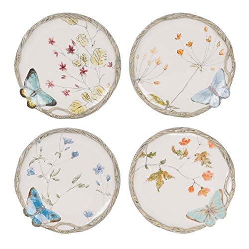 Fitz and Floyd Butterfly Fields Novelty Plate, Small, Multicolored