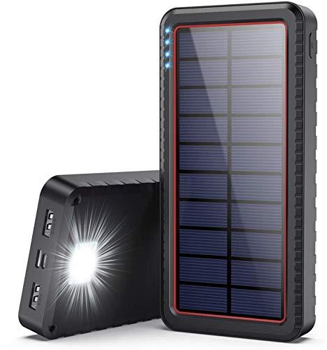 Dyw Powerbank Solare 26800mAh,Type C Veloce...