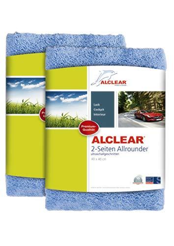 2er Set ALCLEAR Poliertücher 2-Seiten-Allrounder Premium ohne Hologramme, f. Auto Yachting &...