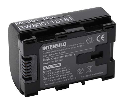INTENSILO Li-Ion batteria 890mAh (3.6V) infochip per telecamera videocamera camcorder come JVC BN-VG107, BN-VG107E, BN-VG107U, BN-VG107US, BN-VG108