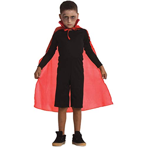 Fantasia Capa de Halloween Infantil Vermelha Unissex Vampiro (ÚNICO)