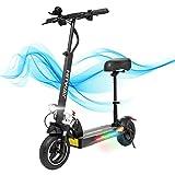 HITWAY électrique Scooter, E Scooters, 800W, 45 km/h,40 km, Scooter électrique Pliable avec écran LCD Batterie Li-ION 10Ah Pliable pour Adolescents et Adultes(noir02) (noir01)