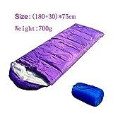 GZSC Saco de Dormir 0.7-1.3kg Saco de Dormir for Acampar (180 + 30) * 75 cm 4 Estaciones Mochila de Dormir de sobre cálido y frío for Excursionismo al Aire Libre Senderismo (Color : 700G Purple)
