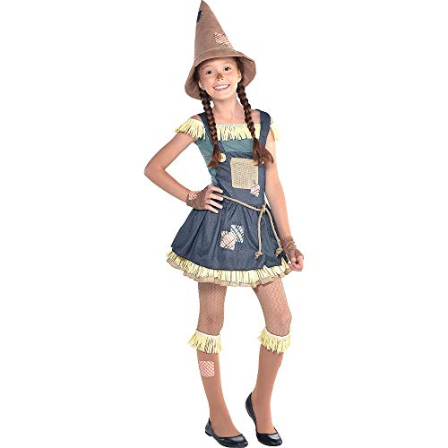 Suit Yourself Scarecrow Halloween Costume for Girls, The Wizard of Oz, Large (12-14), Includes Dress, Belt, Knee Socks