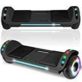 cho 6.5' inch Hoverboard Electric Smart Self Balancing Scooter with Built-in Wireless Speaker LED...