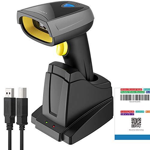Inateck 2D Scanner de Codes à Barres QR avec Base Intelligente, Sans Fil, 3 en 1, Bluetooth, Lecture sur Écran, BCST-52