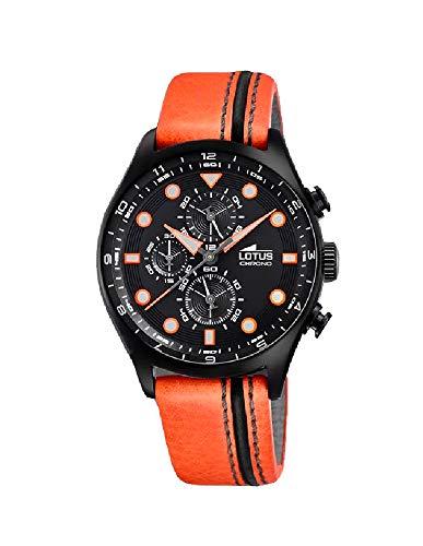 Lotus Herren Analog Quarz Uhr mit Leder Armband 18593/4