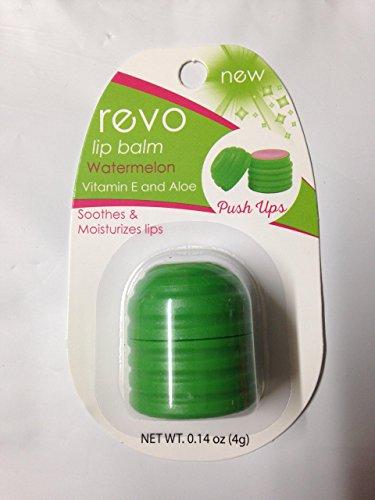 Oralabs Revo Lip Balm , Watermelon flavor with Vitamin E and Aloe, Push Ups Design