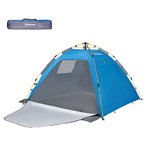 KingCamp Quick Up Camping Tent for 2-3 Person Camping Mesh Beach Tent Sun Shelter UPF 50+ Mosquito Net Screen Room Tents Spacious Oversize for Outdoors Hiking Bacpacking