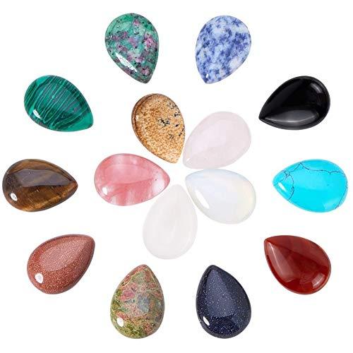PandaHall 15 juegos de cabujones de piedras preciosas natura