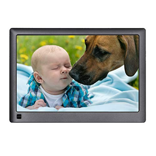 Digital Picture Frame WiFi,LOVCUBE 10 Inch Smart Digital Picture Frame with 10GB Free Cloud Storage,Share Moments Instantly via APP or Web Portal. IPS 1280 x 800 HD Display Motion Sensor (Black)