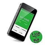 GlocalMe G3 4G LTE mobiler WLAN Router/Hotspot/MiFi mit Powerbankfunktion, mit 1 GB globalen Daten, Simkarten-frei, ohne Roaming-Gebühren, verwendbar in über 130 Ländern (G3-Grau)