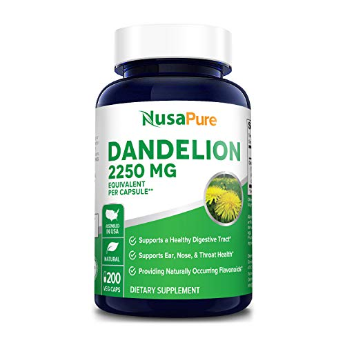 Dandelion Extract 2250mg 200 Veggie Capsules (Non-GMO, Extract 5:1 & Gluten Free) Taraxacum Officinale - Supports Kidney Health, Liver & Whole Body* 1 - My Weight Loss Today