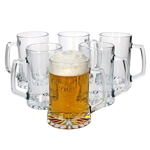MamboCat 6tlg. Vivalto - Set di Bicchieri da Birra con Manico, 380 ml, per Oktoberfest, Brauerei- &...