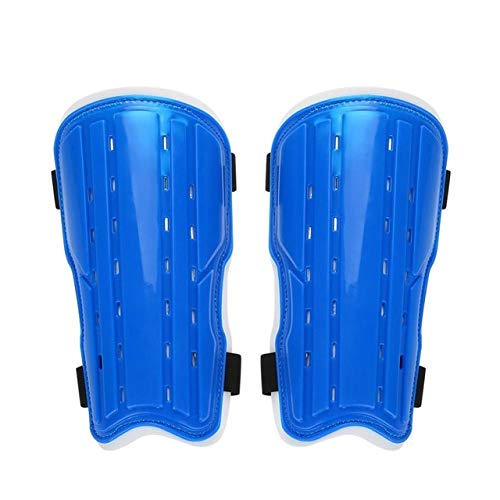 WowObjects 1Pair Adults Soccer Protective Football Breathable Leg Shin Protective Guards Pad Board Supporting Posture Corrector Gear Braces & Color: Blue