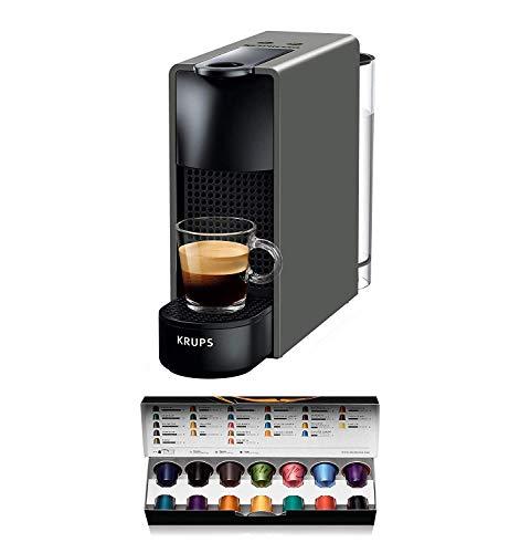 Krups Nespresso XN110B Essenza Mini | 1260 watt |Thermoblocksysteem | 0,7 liter | 19 bar | Kleur: grijs