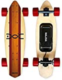 Nilox Doc Cruiser Electrique Adulte, Electric Cruiser Skateboard,Vitesse Max 15 km/h, Rouge