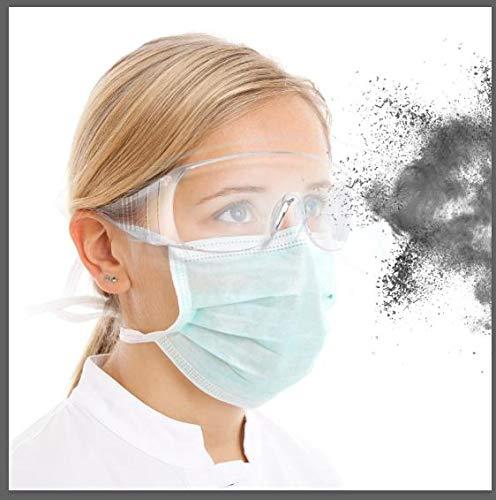 Occhiali Protettivi E Igienici di Sicurezza,Clear Occhiali antiappannamento e AntiGraffio per Lavoro...