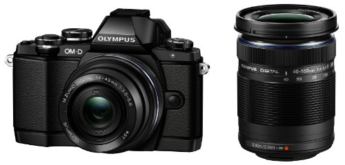 OLYMPUS ミラーレス一眼 OM-D E-M10 ダブルズームキット ブラック OM-D E-M10 DZKIT BLK