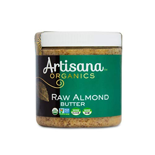 Artisana Organics Non GMO Raw Almond Butter, 9 oz | No Sugar Added, Vegan Paleo and Keto Friendly