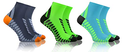 Sesto Senso Calze Corte Sportive Colorate Jogging Donna Uomo 3-12 Paia Grigio Grafite Turchese 43-47...