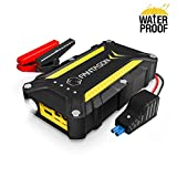 Jump Starter, FANTASON 1500A Peak 15600mAh Portable Car Battery Charger (Up to 8.0L Gas or 6.0L Diesel Engine) 12V Auto Battery Booster, Waterproof Power Pack with Built-in LED Light -Upgraded Version