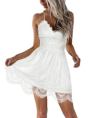 High Quality Soft Material, Cotton and Lace, Comfortable to Wear, Handwash only Style: V-neck, Lace, Spaghetti Straps, A-line, Empire, Knee-length/Cover Knee, Backless Occasions: Party, Holiday, Tour, Trip, Daliy Wear, Wedding and Special Occasions, ...