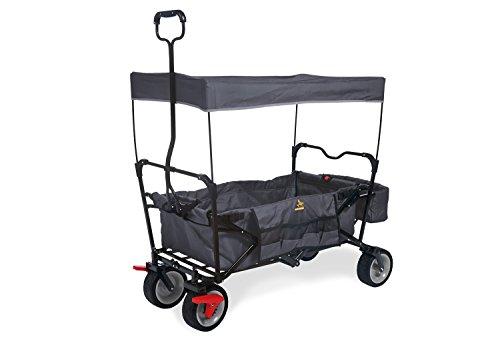 Pinolino Klappbollerwagen Paxi dlx mit Bremse, faltbar, inkl. Sonnendach und Tragetasche, Tragfähigkeit 70 kg, anthrazit