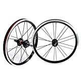 Quick Release Axles Bicycle Accessory BMX 406 Rim 20 Inch Bike Wheelset Rim Brake Foldable Bicycle Front and Rear Wheel with 9T Sprocket Sealed Bearing Hub 1210g Road Bicycle Cyclocross Bike Wheels