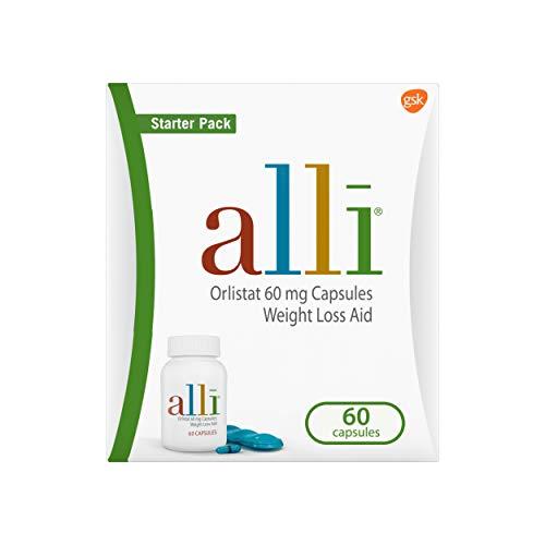 alli Weight Loss Aid Diet Pills, 60mg Starter Pack, 60 Count 1