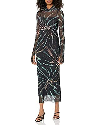 Contemporary Fit Slip Included The Shailene mesh dress for women features a fall forward turtleneck and fitted midi silhouette that can been easily dressed up or down. This dress features thumbholes on the sleeves Machine wash cold, gentle cycle, do ...