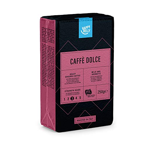 "Amazon-Marke: Happy Belly Gemahlener Röstkaffee ""Caffè Dolce\"" (4 x 250g)"