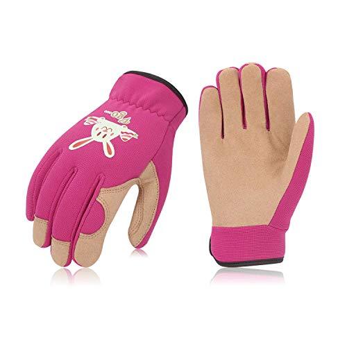 Vgo... Glove Guanti, 1 Paio, per Bambini di 4-5 Anni, Guanti da Giardinaggio e da Lavoro per...