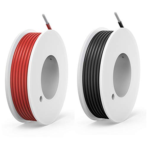 20 awg Silicone Electrical Wire Cable 2 Colors (23ft Each) 20 Gauge Hookup Wires kit Stranded Tinned Copper Wire Flexible and Soft for DIY