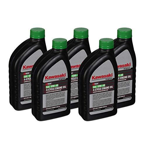 Pack of 5 Kawasaki 99969-6296 Genuine OEM K-Tech SAE 10W-40 4-Cycle Engine Oil