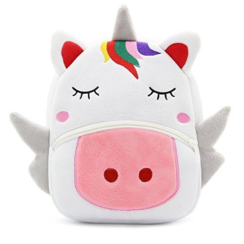 Cute Toddler Backpack Toddler Bag Animal Cartoon Mini Travel Bag for Baby Girl Boy 1-6 Years (Unicorn)