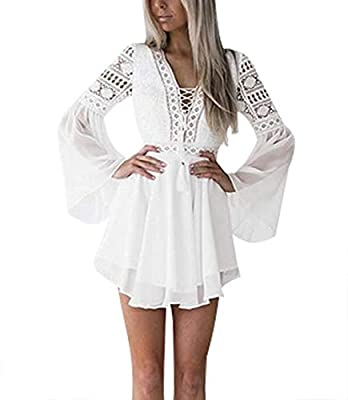 Decent Dress: Polyester, Breathable, nice fabric, not stretchy, and gorgeous. A little see-through but nothing some nude underneath can't fix. Perfect summer dress! So Feminine: Between the cut outs that show a little skin and the bell sleeves, cute ...