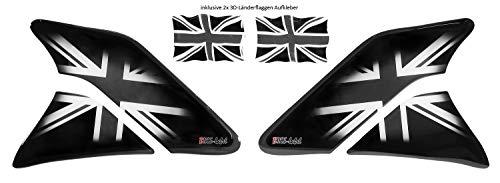 Bike Label 800148 - Juego de Protectores Laterales para Moto, diseño de la Bandera británica