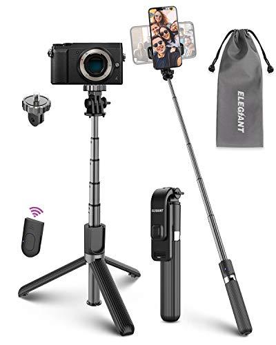 ELEGIANT Bastone Selfie Wireless, 4 in 1 Asta Selfie Stick Bluetooth con Treppiede per Camera Gopro 3,7-6,8 Pollici Cellulare iPhone 11 XS Max XR x 8s Samsung Galaxy S20 s10 s8 Huawei P30 P20 PRO