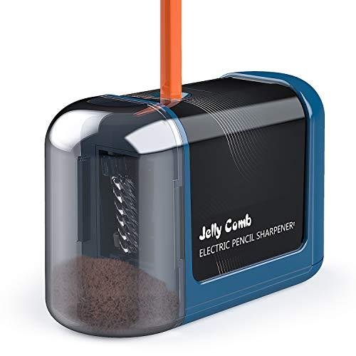Elektrischer Anspitzer, Jelly Comb Batteriebetrieben Automatischer Bleistiftspitzer elektrisch für Nr. 2 Stifte Buntstifte, Sicherheitsdesign für Klassenzimmer, Haus, Büro, Künstler, Studenten