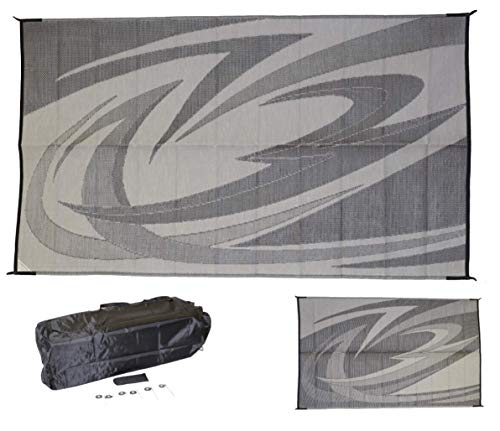 EEZ RV PRODUCTS 9x18g Reversible/Durable Outdoor Patio/RV Mats -...