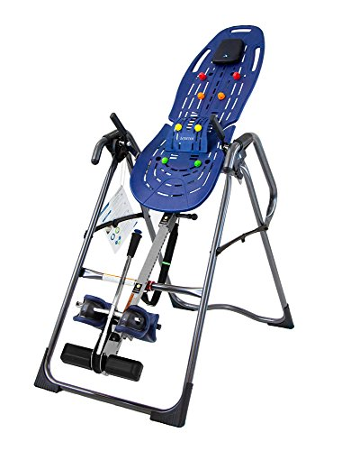Teeter EP-970 Ltd. Inversion Table with Deluxe Easy-to-Reach Ankle Lock and Back Pain Relief Kit, FDA-Registered, 3rd-Party Safety Certified, Precision Engineering