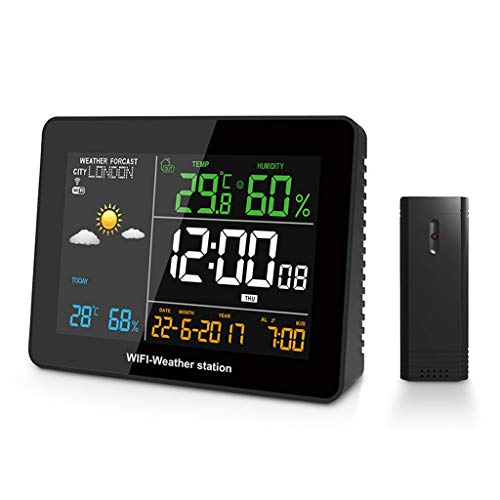 LOFAMI Casa e Cucina Stazioni Meteo WiFi Stazione Meteo App Impostazione Remota Automatic Connect Smart Home Termometro Multifunzione Igrometro Giardino e Giardinaggio Stazioni Meteo