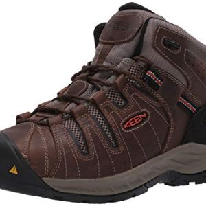 KEEN Utility Men's Flint II Mid Soft Toe Non Slip Work Shoe Construction, Cascade Brown/Burnt Ocher